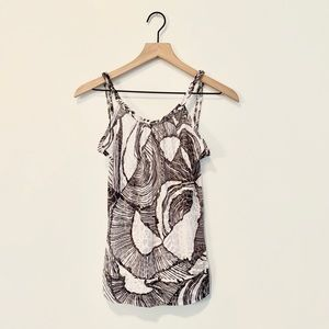 New Buckle Low Back Patterned Tank